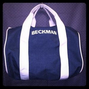 Beckman Canvas Sports Bag; Blue & White